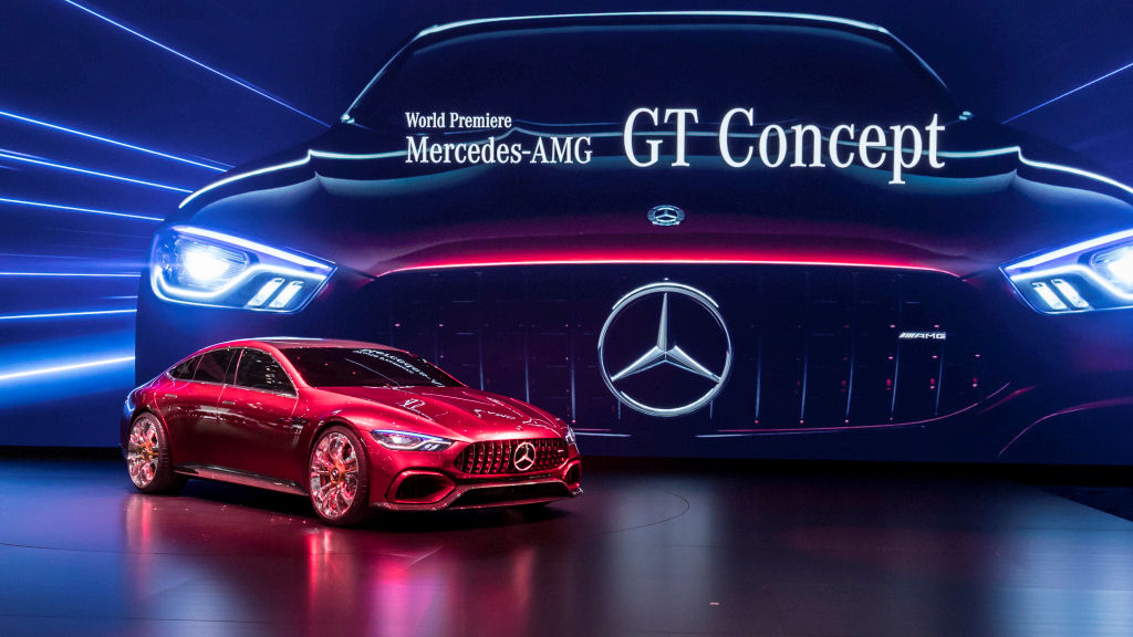 Mercedes-Benz auf dem Internationalen Automobil-Salon Genf 2017: Weltpremiere des Mercedes-AMG GT Concept. ; Mercedes-Benz at the 2017 Geneva International Motor Show: World Premiere of the Mercedes-AMG GT Concept.;