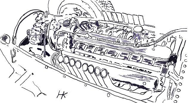 Motor Auto Union V 16sketch