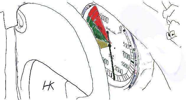 Toerenteller V16 Auto Union tekeningbisbeterter